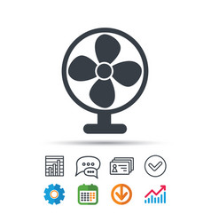 Ventilator icon air ventilation or fan sign vector