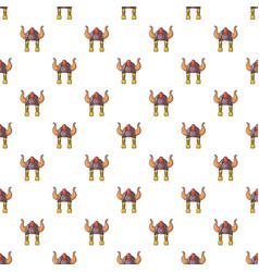 Viking helmet pattern seamless vector