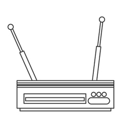 Wi-fi router modem icon vector