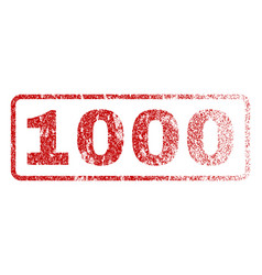 1000 rubber stamp vector image