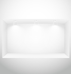 Empty display window with spot lights vector