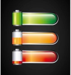 Battery level sign classic isolated icon vector