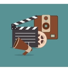 Cinematography related icons image vector