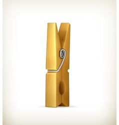 Wooden clothespin vector