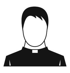 Priest icon simple style vector