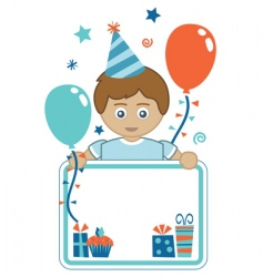 Boy party background vector