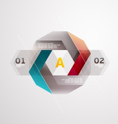 Modern colors design vector image