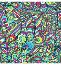 Colorful seamless abstract hand-drawn pattern vector
