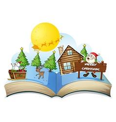 Chirstmas book vector image
