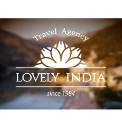 Lovely india logo template vector