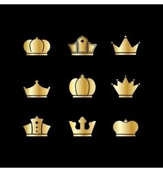 Gold crowns vector