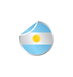 Glossy theme argentina national flag vector
