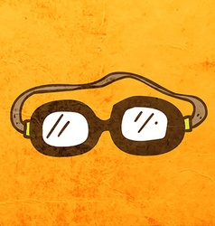 Safety glasses cartoon vector
