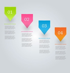 Modern inforgraphics template for banners website vector