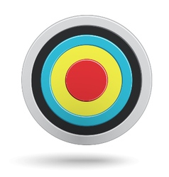 Colour round darts target aim isolated on white vector