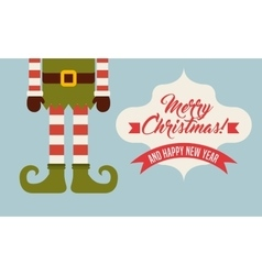 Elf legs cartoon icon merry christmas design vector