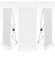 Set of blank x-stand banners display template vector