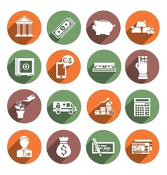 Bank service icons vector