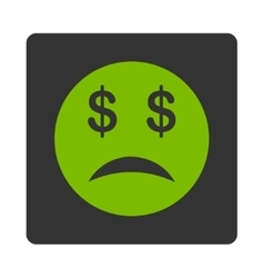 Bankrupt Smiley Icon from Commerce Buttons vector image