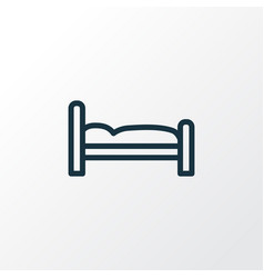 Bed outline symbol premium quality isolated vector