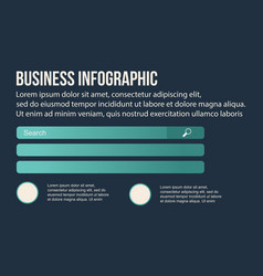 Business infographic data design collection vector
