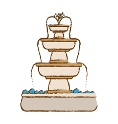 Classical fountain icon image vector