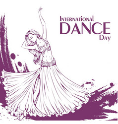 dance day belly dance vector image vector image