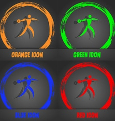 Discus thrower icon Fashionable modern style In vector image