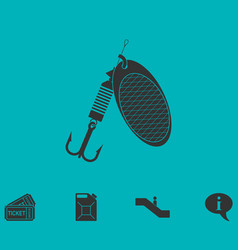 fishing tackle icon flat vector image