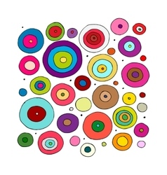 Funny circles colorful sketch for your design vector