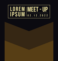 Geometric cover design collection for meet up card vector