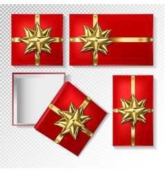 gift wrapping collection top view vector image