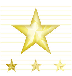 gold star background vector image vector image