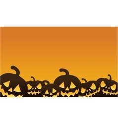 Halloween pumpkin orange backgrounds vector image vector image