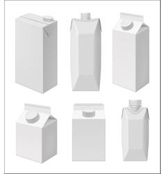 Juice and milk blank packaging template vector