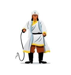 Khan of the golden horde cartoon vector