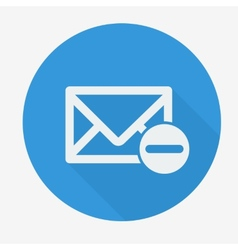 Mail icon envelope with minus sign Flat design vector image vector image