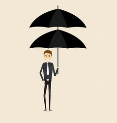 manageroffice worker or businessman holding vector image