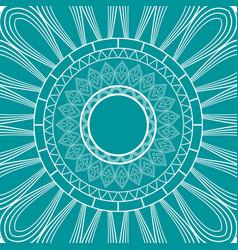 Mandala seamless pattern ethnic ornament on green vector