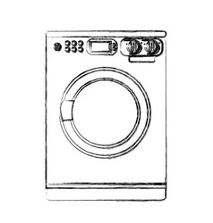monochrome sketch of washing machine vector image vector image