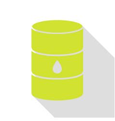 Oil barrel sign pear icon with flat style shadow vector