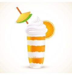 Orange sliced dessert cocktail vector
