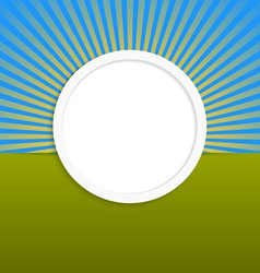 Round design element with rays vector image vector image