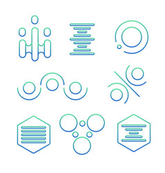simple science logo set vector image vector image