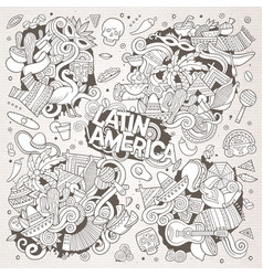 Sketchy hand drawn doodle latin american vector