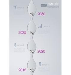 Timeline infographic metal design background vector
