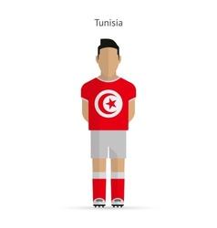 Tunisia football player soccer uniform vector