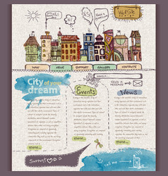 Website design template City vector image vector image