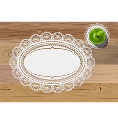 doily mats and apple vector image
