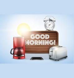 good morning still life vector image